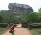 Nimra-Archer-Sigiriya-Rock-Starting-Climb